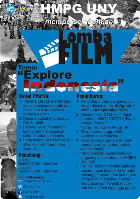 Lomba Film Pendek HMPG UNY