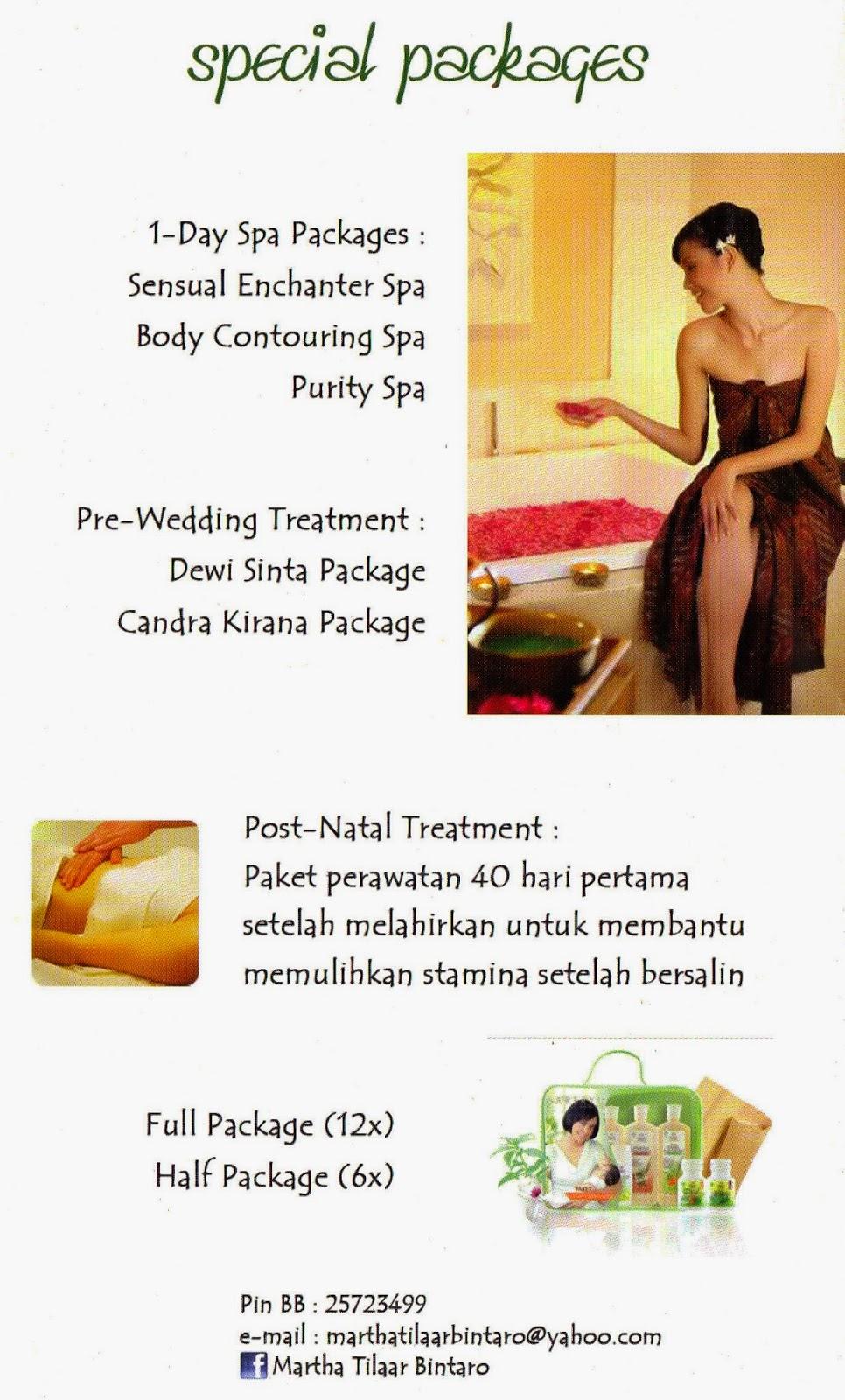 Martha Tilaar Salon Day Spa Ini Menyediakan Beberapa Paket Termasuk Pre Wedding
