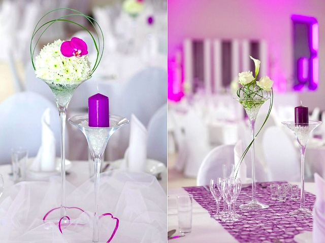 One lovely wedding ideas for a frugal wedding reception for Cheap wedding table decorations ideas