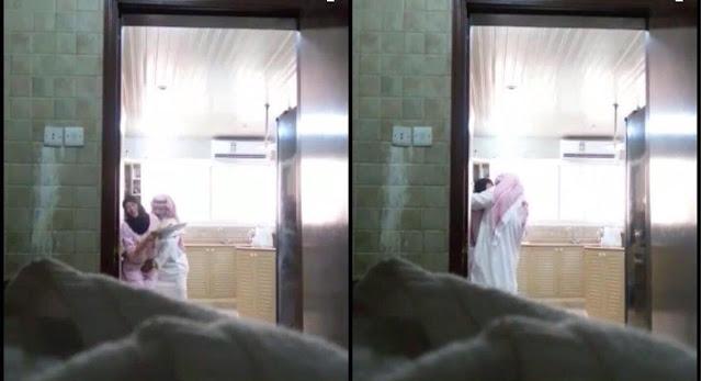 بالفيديو: سعودية تفضح زوجها وتنشر له مقطع وهو يتحرش بالخادمة !