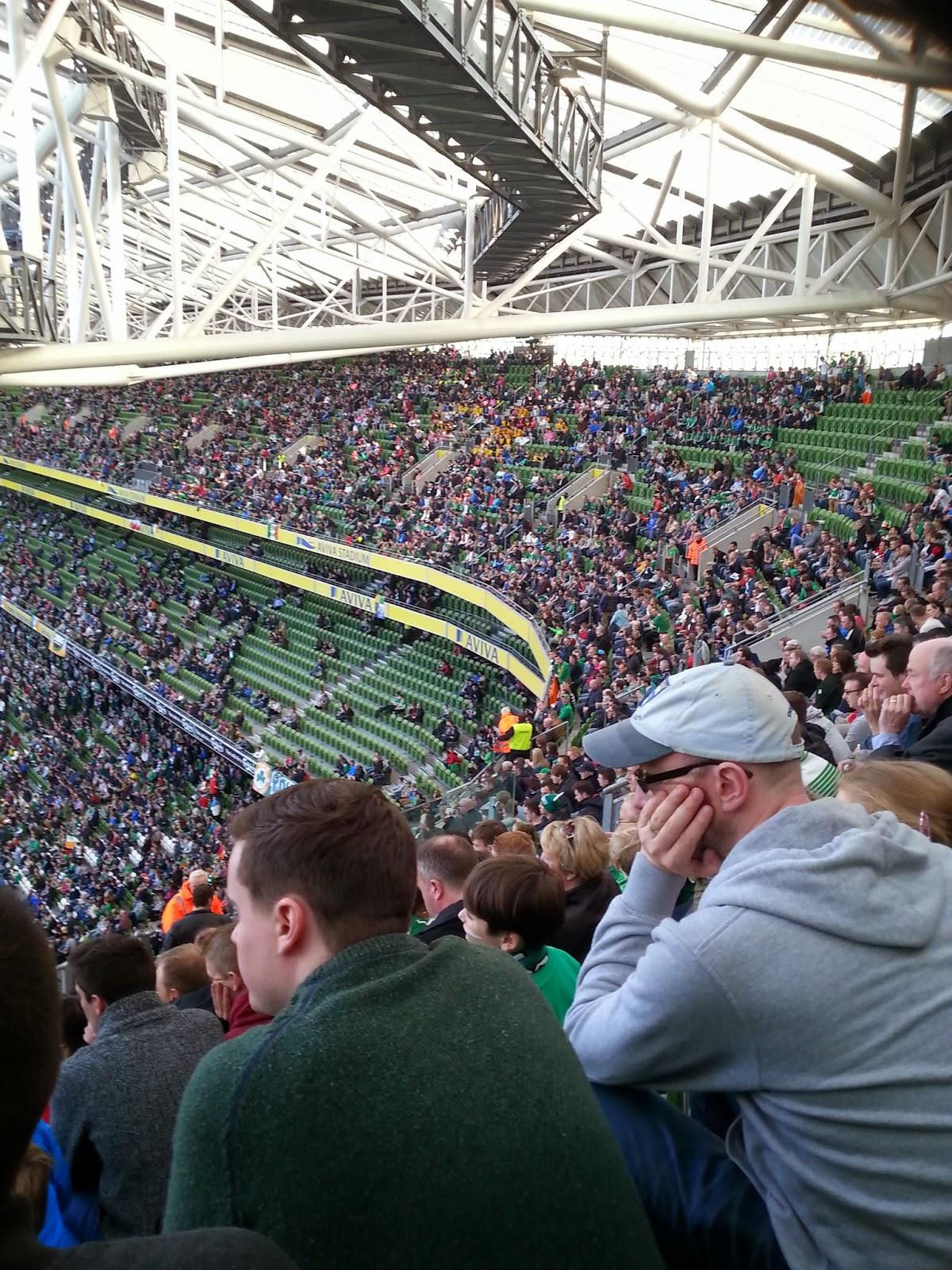 crowd at aviva stadium Ireland match paper doll blog
