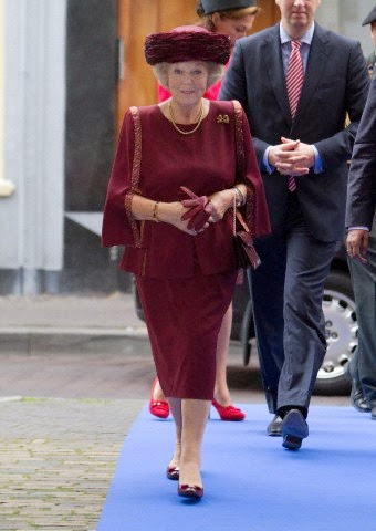 Princess Beatrix attends the Max van der Stoel Award ceremony at the Spaansche Hof in The Hague