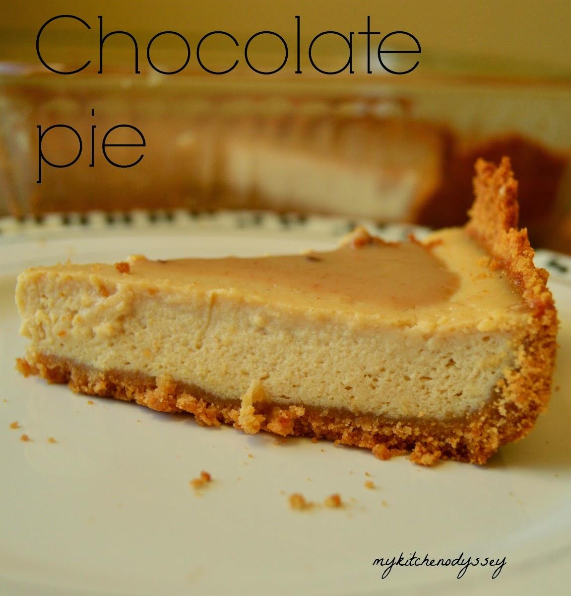 Chocolate Pie|Tofu Chocolate Pie
