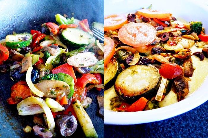 Gemüseauflauf mit Polenta