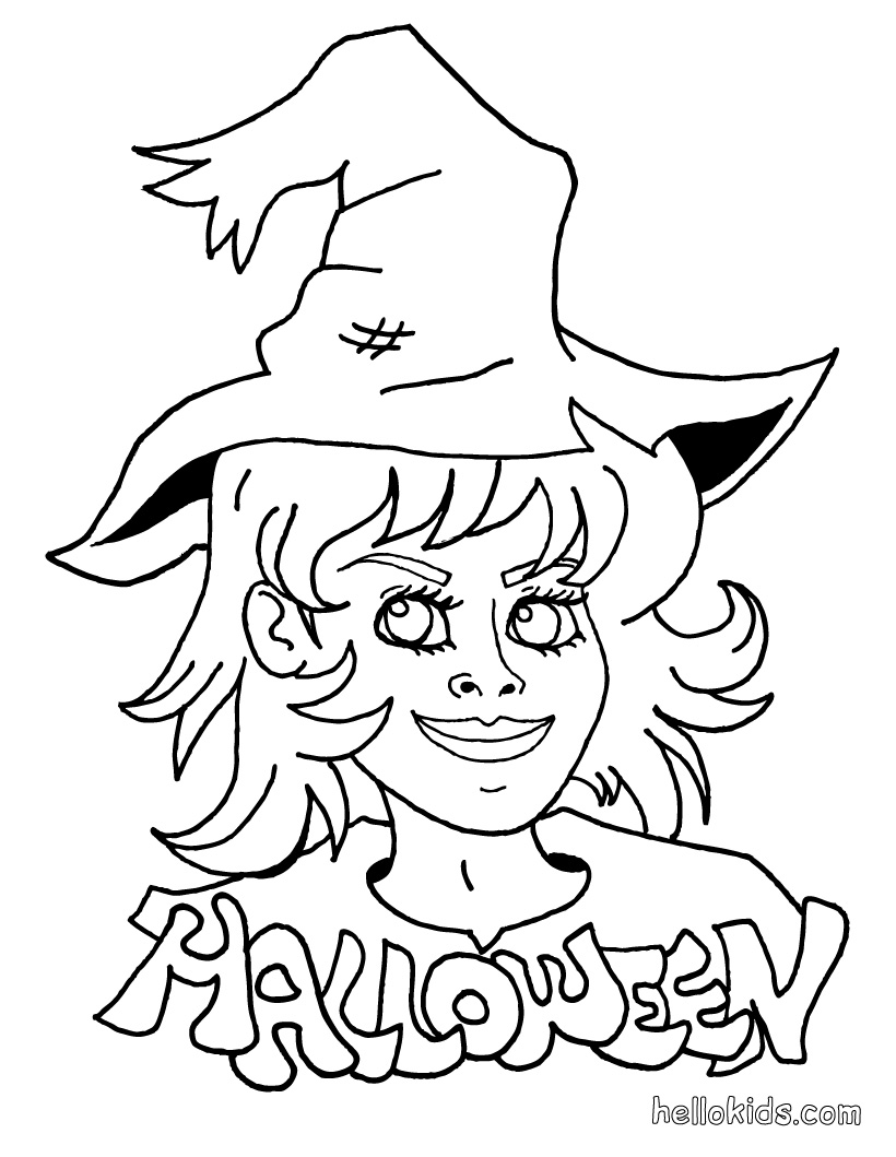 halloween witch coloring pages - photo#27