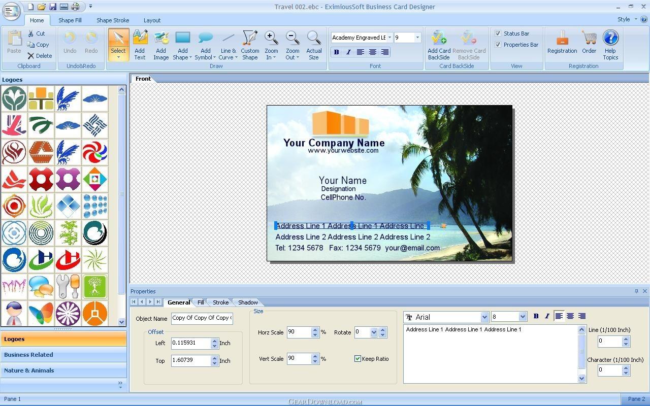 Download eximioussoft business card designer v380 full key blog odikgratis kumpulan software for Free comp card maker