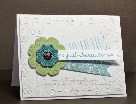 Retiring Daydream Medallions stamp set by Stampin' Up! die-cut using Floral Frames Collection Framelits dies.