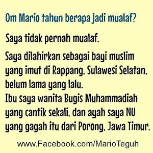 Mario Teguh: Ibu Muhammadiyah yang cantik, ayah NU yang gagah
