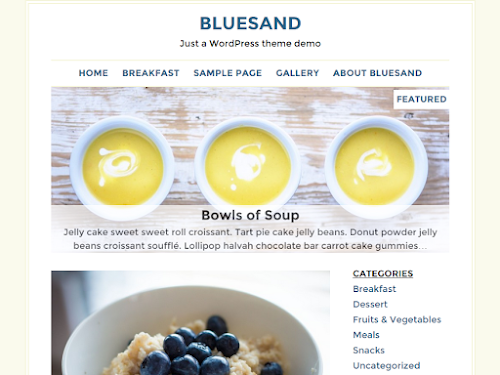 Download Tema WordPress Bluesand