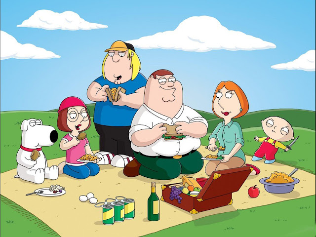 Wallpaper Family guy picnic cartoon