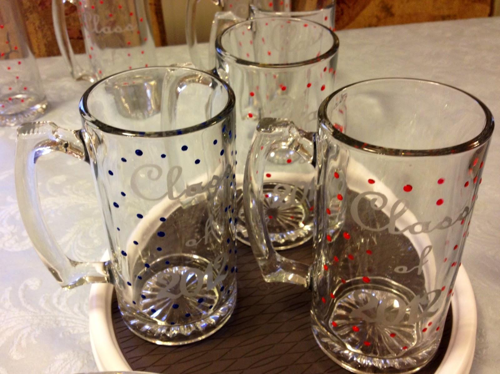 marilyn 39 s crafts diy graduation mugs glass etching. Black Bedroom Furniture Sets. Home Design Ideas