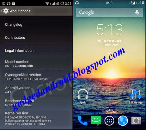 Download custom rom xiaomi redmi 1s kitkat