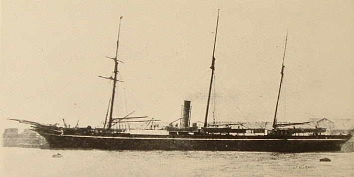 RMS Teuton in port