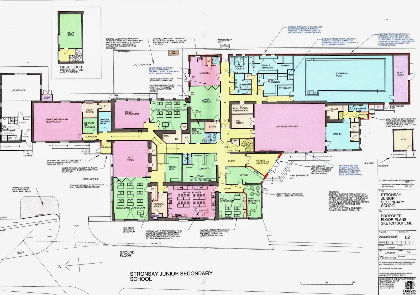 School floor plans stronsay junior high school s blog for School project plan