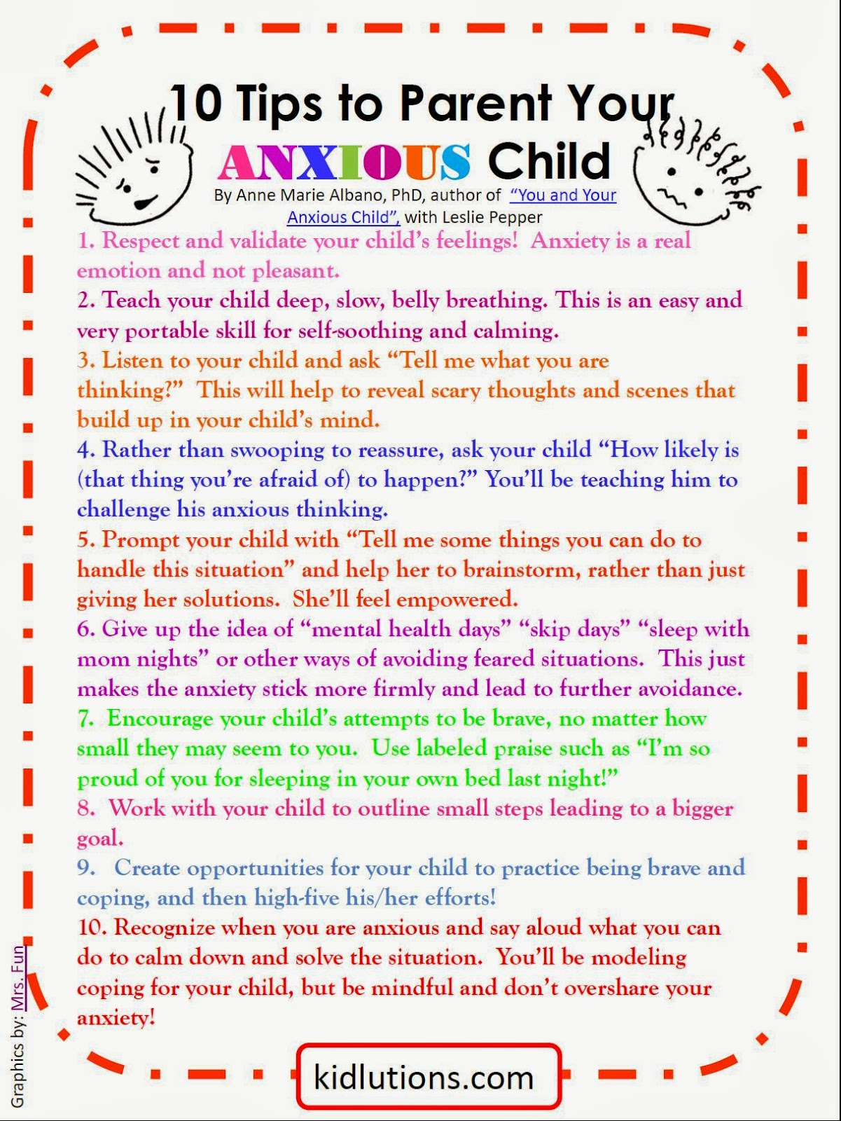 10 Tips to Parent Your Anxious Child – Anxiety Worksheets for Children