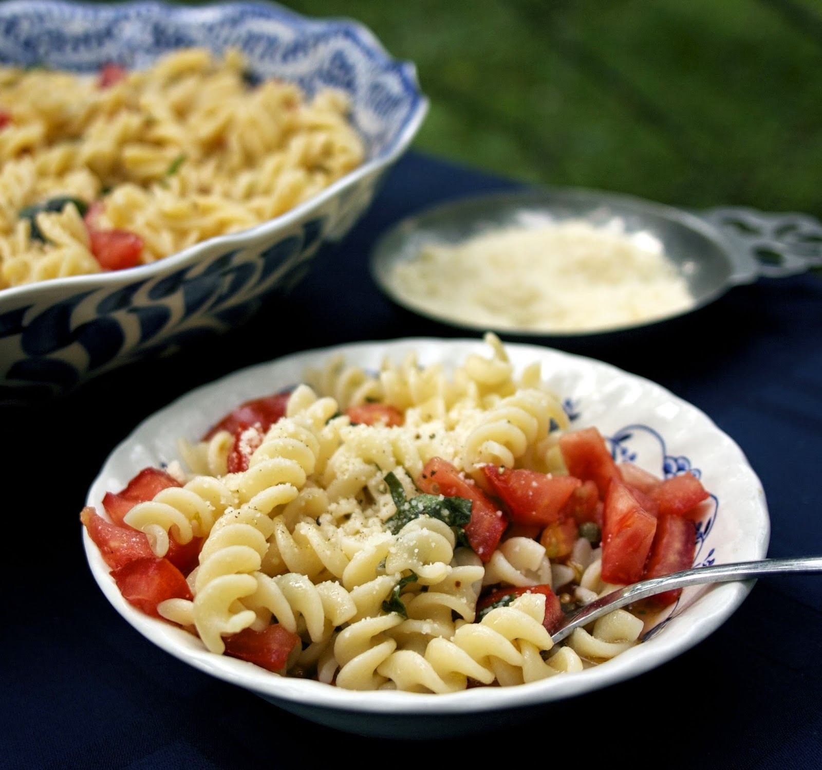 Pasta with Raw Tomatoes- simplelivingeating.com