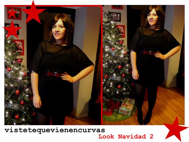 Look de Navidad 2 - Transparencias y burgundy
