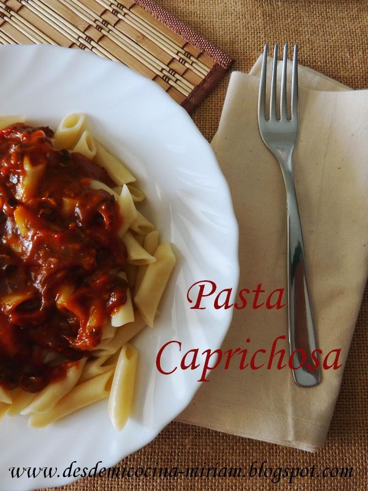 Pasta caprichosa, pasta caprichosa thermomix, pasta