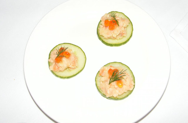Salmon and cucumber