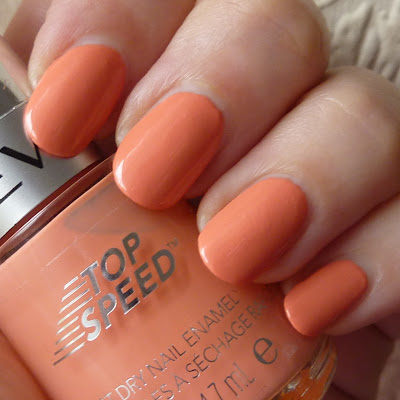 Revlon Top Speed Nail Polish Swatch of Peachy