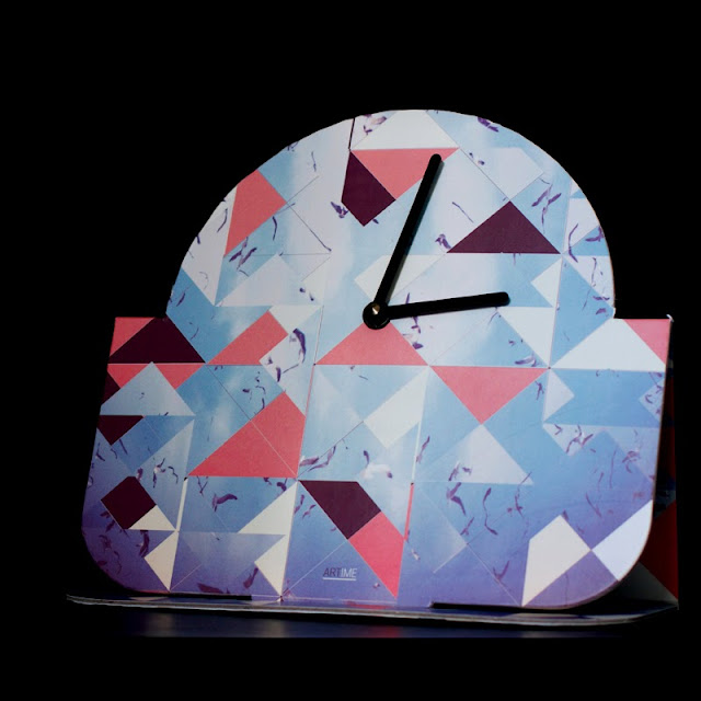 'Abstract' Artime Clock by Danny Ivan and Pedro Gomes for Life With Art