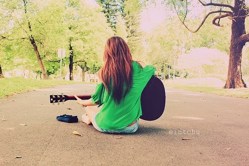 Guitar is music. ♪
