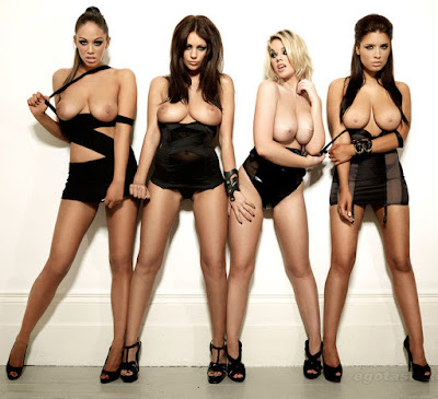 Melissa Debling, Emma Frain, Lacey Banghard, Holly Peers & Kelly Andrews - All Boobs n Ass for NUTS Magazine!