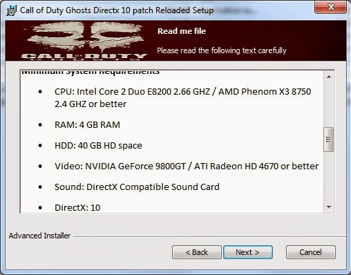 Call of Duty Ghost Directx 10 patch screen 2