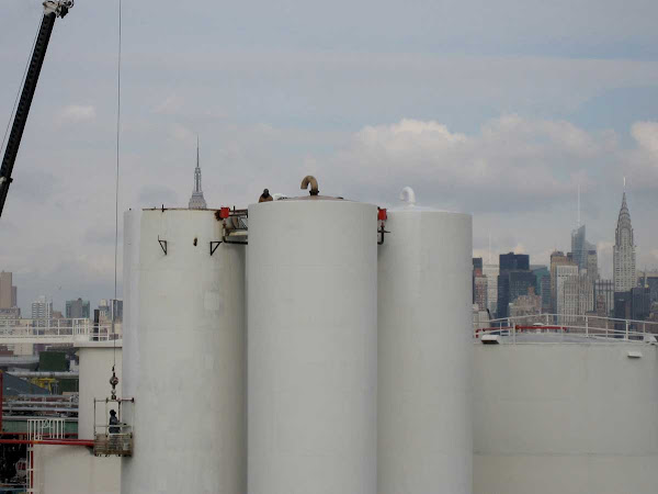 Three Tanks - Metro Biofuels plant from the Greenpoint Ave. bridge.