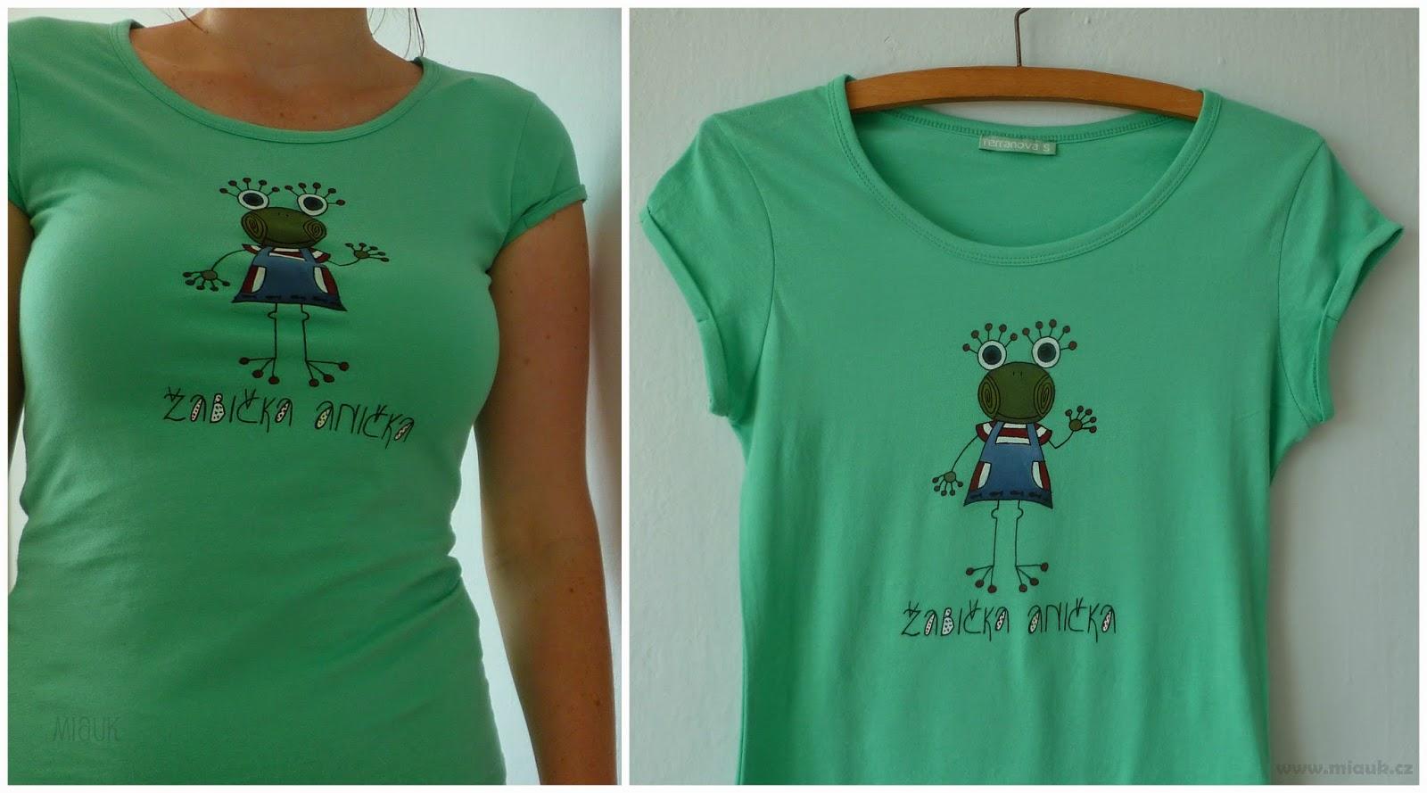 dámské malované tričko