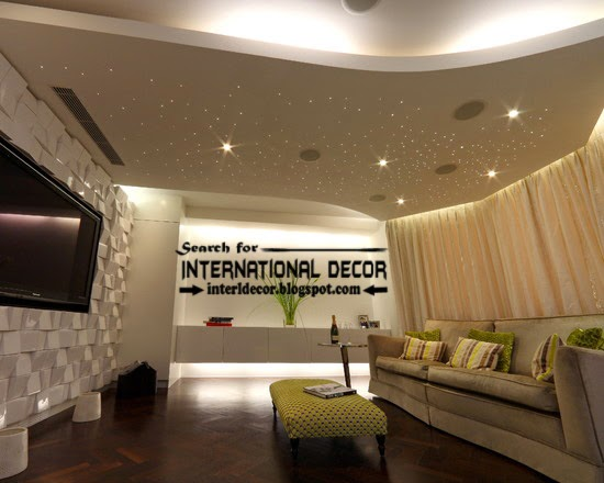 15 modern pop false ceiling designs ideas 2015 for living room for Latest ceiling designs living room
