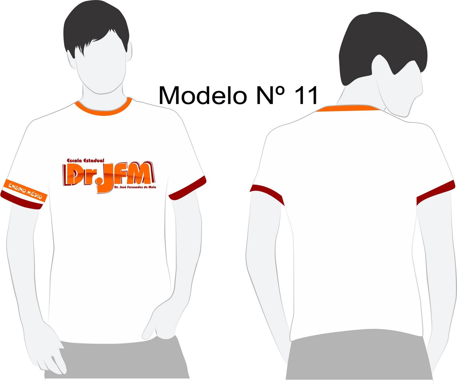 Modelo De Camiseta Escolhido  O Vencedor Foi O MODELO N   6   Para