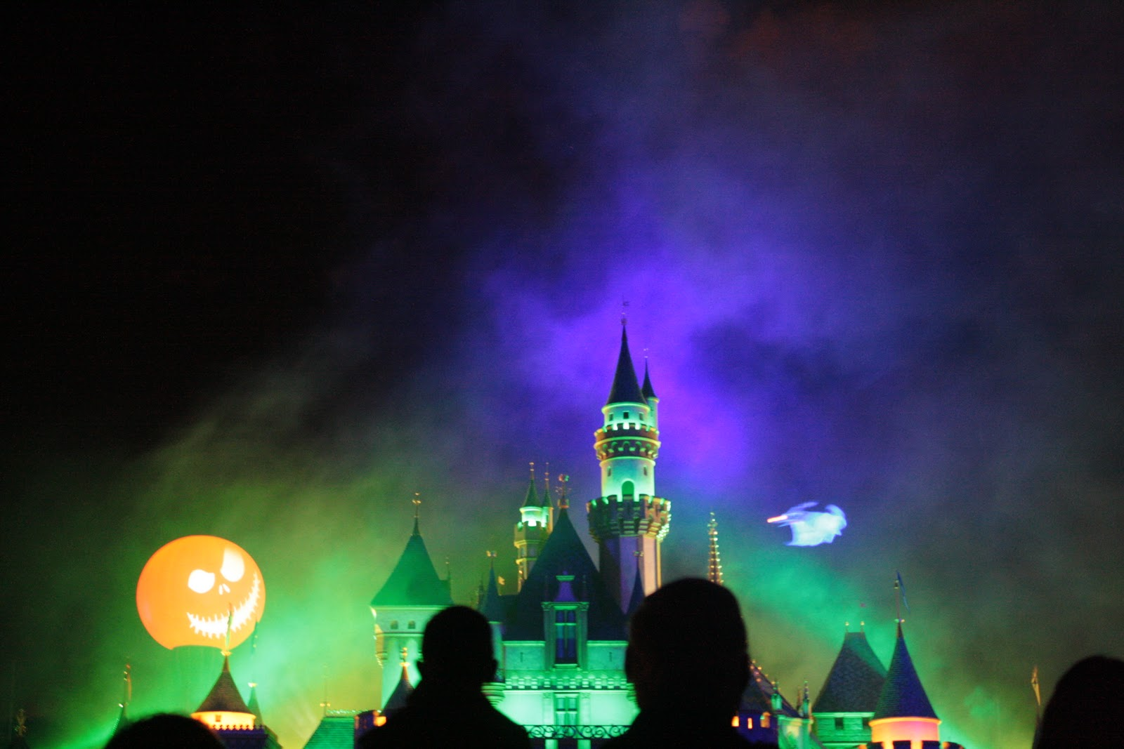 jack skellington and zero halloween screams fireworks