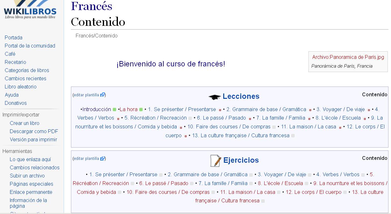 Curso de francés en Wikilibros
