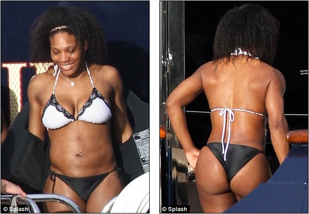 Serena Williams In String Bikini
