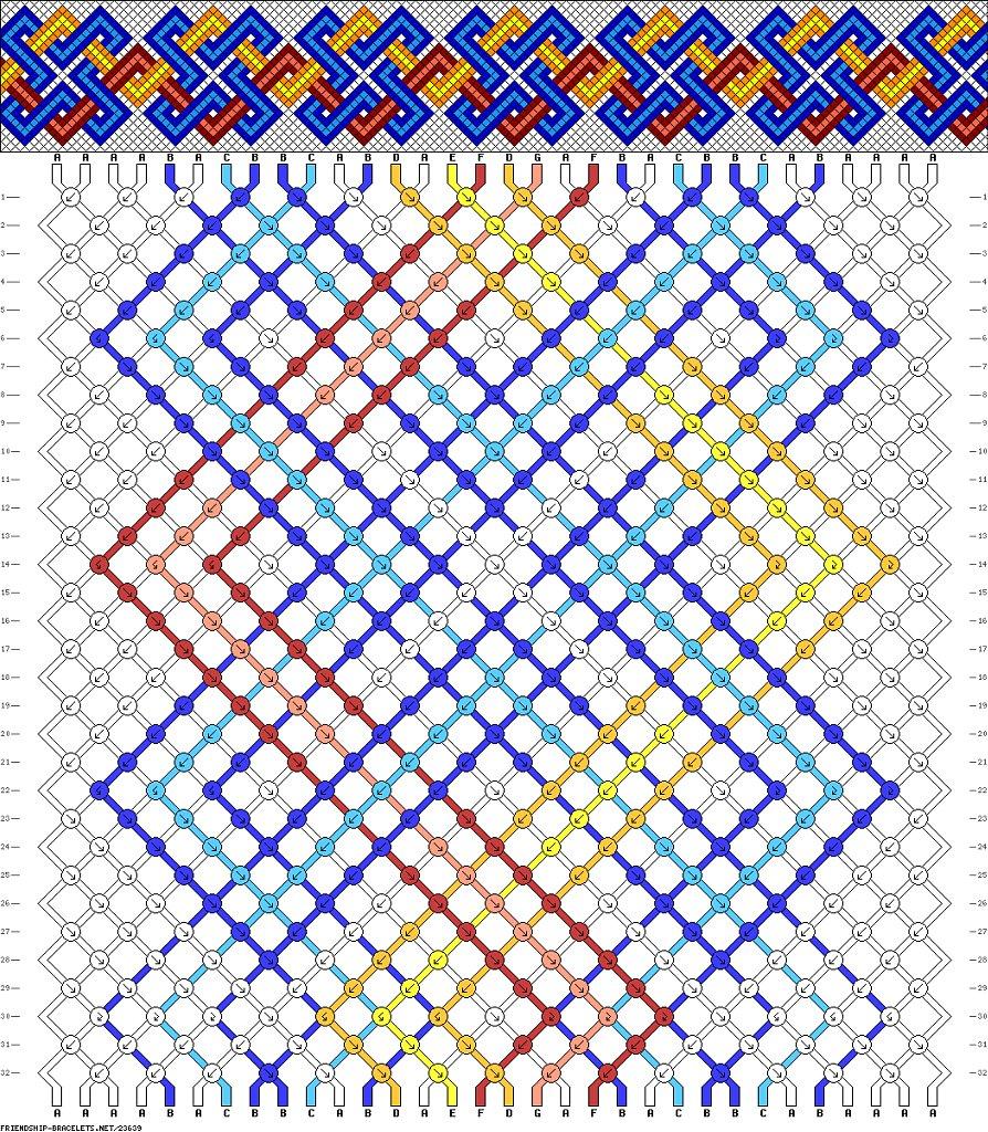 макраме фенечки схемы плетения