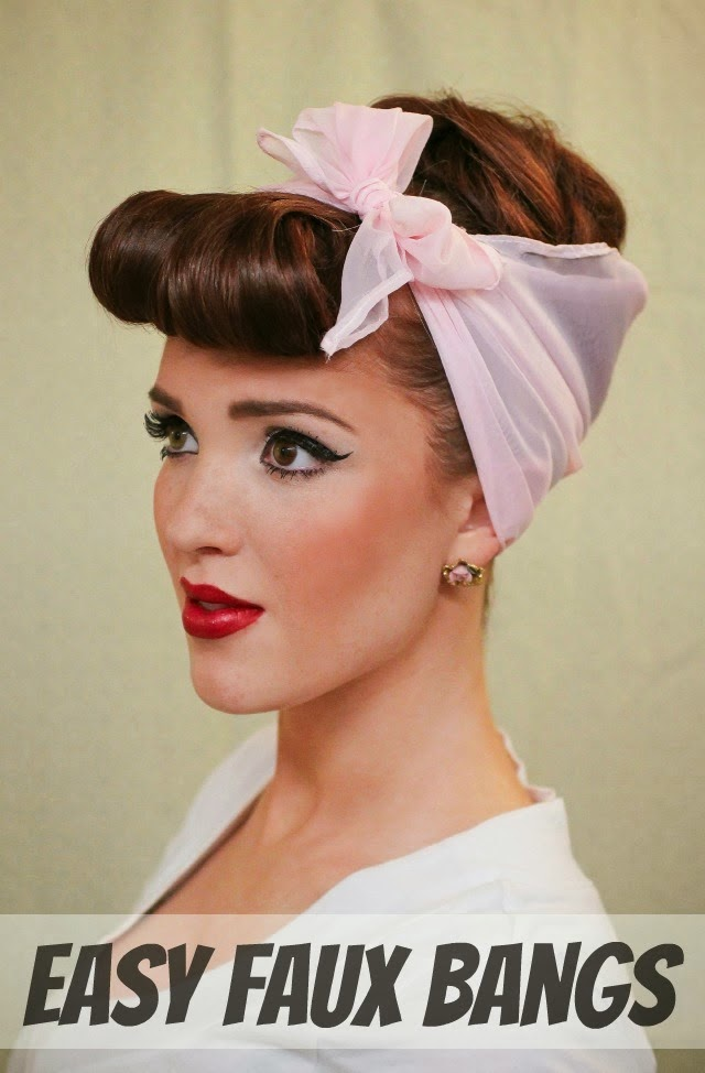 vintage 50s pin up hair freckled fox hair tutorial retro