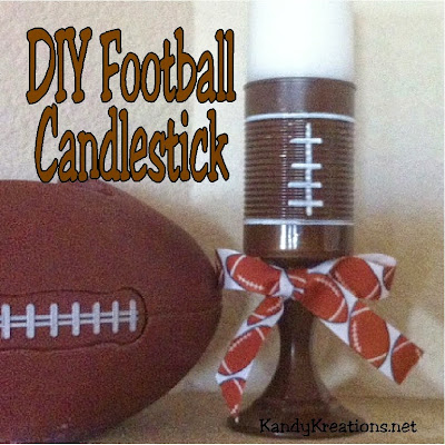 Make quick and Easy football candlesticks that add a pop of WOW! to your football party.