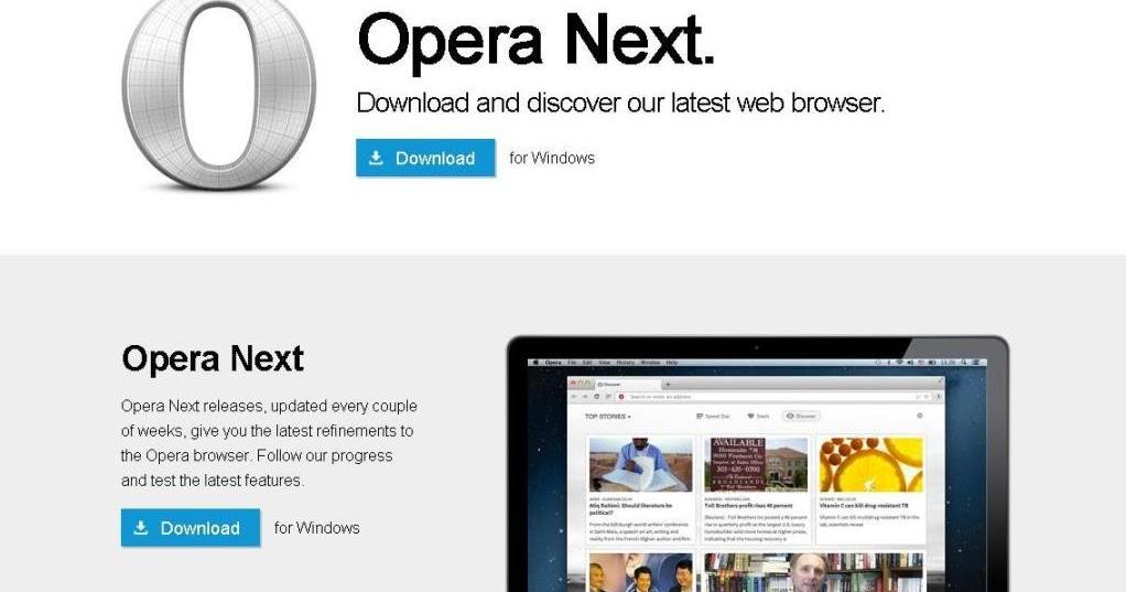 Opera Browser 2013 Download Opera Next, New Softwa...