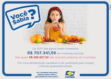 Guaraniaçu - Prefeitura já investiu 707 MIL em Merenda Escolar