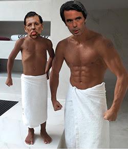 el villano arrinconado, humor, chistes, reir, satira, Rajoy, Aznar
