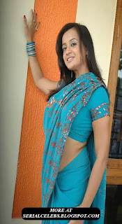 Tanu Rai in low hip saree