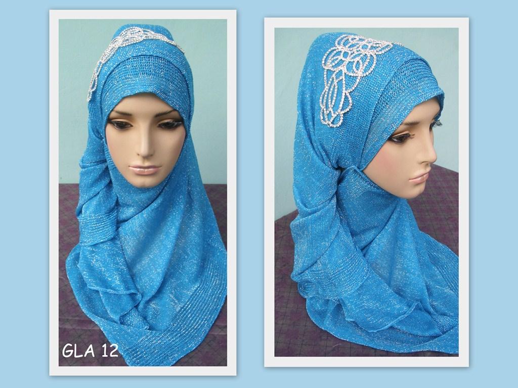 22 Galery Tutorial Hijab Pashmina Glitter Terupdate Tutorial