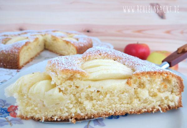 Apfelkuchen sehr fein nach Omas Rezept auf Foodblog rehlein backt
