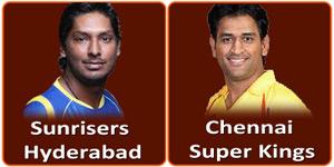 सनराईज़र्स हैदराबाद बनाम चैन्नई सुपर किंग्स 8 मई 2013 को है।