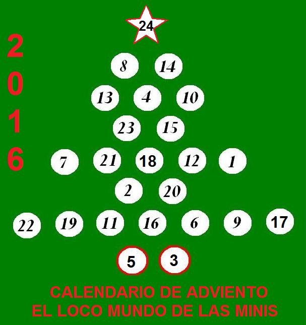Calendario     El Loco Mundo de las Minis