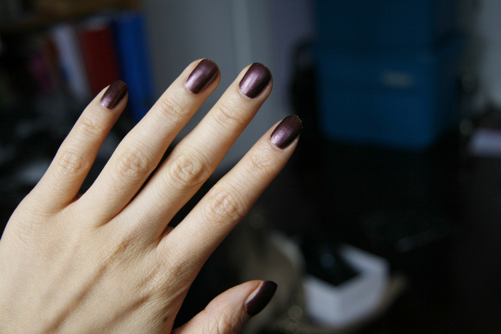 fun size beauty: Suncoat Peelable Nail Polish in Mulberry