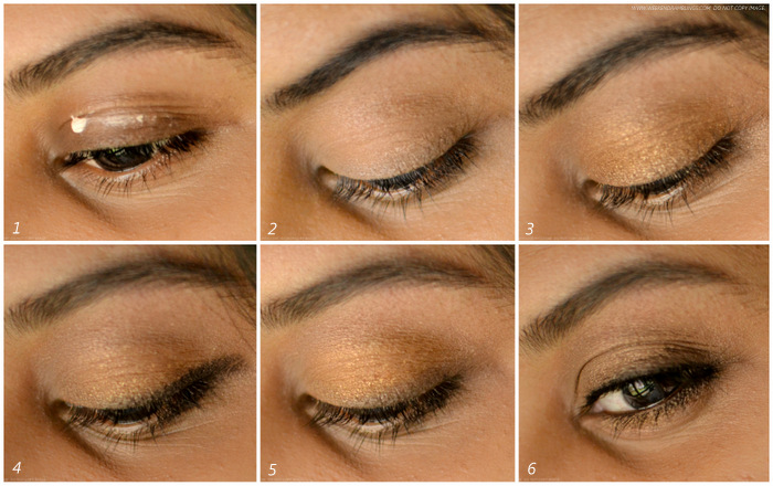 Easy makeup tutorial steps - bronze brown neutral eyes - soft pink lips - spring daytime look