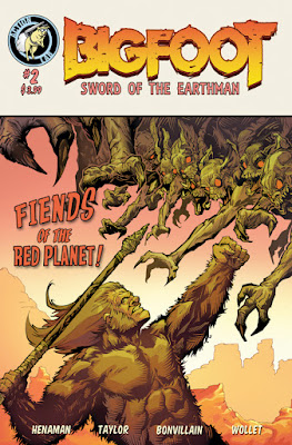 Bigfoot Sword of the Earthman bigfoot comic Action Lab Entertainment issue two bigfoot comic book graphic novel barbarian