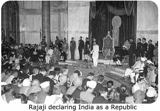 Rajaji declaring India as a Republic